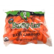 Organic Baby Peeled Carrot USA 454g