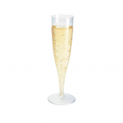 Disposable Champagne Glass Clear 10 pieces