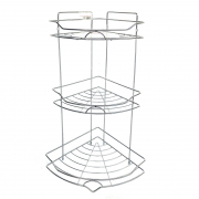GIKEN 3 Tier Stainless Corner Rack CR1003