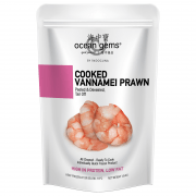 Frozen Cooked Vannamei Prawn Tail Off 454g