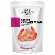 Frozen Cooked Vannamei Prawn (Tail On) 454gm