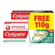 Total Pro Breath Health Toothpaste 2X150g + Free Charcoal Toothpaste