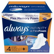 Infinity Flex Memory Foam 30cm Night Wings 13s