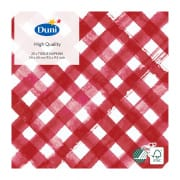 3-Ply Tissue Napkin in Red Checks (24 x 24 cm)