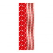 DUNI Bio Paper Straws in Red & White 25 pieces (20 cm)