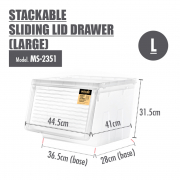 Stackable Sliding Lid Drawer L