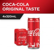 Coke Less Sugar 4sX320ml