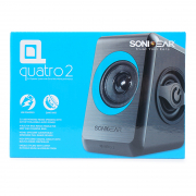 2.0USB Speakers Quatro 2  Black Turquila