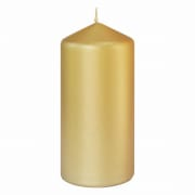Candle Pillar in Gold (15 x 7cm)
