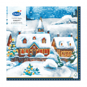 3-Ply Dunisoft® Napkin in Winter Village (40 x 40 cm)