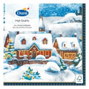 3-Ply Tissue Napkin in Winter Village (24 x 24 cm) 12pcs