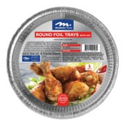 Round Foil Tray with Plastic Lid 5s