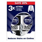 Men Black & White Roll On 50ml Twin Pack