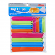 Bag Clips Assorted Sizes 12 Pack