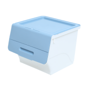 Stackable Box with Lid Blue 35L