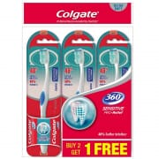 COLGATE Toothbrush 360 Sensitive Pro-relief Ultra Soft 3s