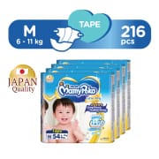 Extra Dry Tape Diapers M Carton 4 x 54s