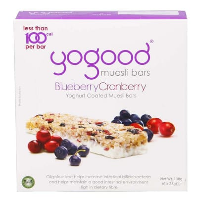 Muesli Bar Yoghurt Coated - Blueberry & Cranberry Muesli Bar 6sX23g