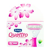 Quattro For Women Ultra Smooth Razor Refills 4s
