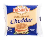 President Burger Cheddar Slices Cheese Slices