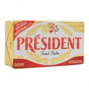 President Unsalted Butter Block
