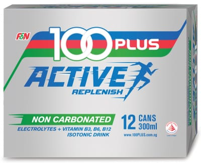100 PLUS Non-Carbonated Active Replenish Isotonic Drink 12sX300ml
