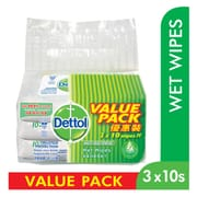 Anti Bacterial Wet Wipes 3X10 Sheets