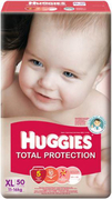 Total Protection Diapers 50s XL 11-16kg