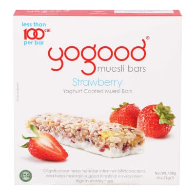 Muesli Bar Yoghurt Coated - Strawberry 23gX6s