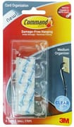 Cord Organizer - 4 Medium Clips 17301CLR