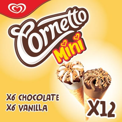 WALL'S Ice Cream Mini Cone - Chocolate & Vanilla 12sX28ml