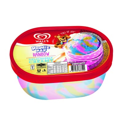 Ice Cream Tub - Paddle Pop Rainbow 1.5L