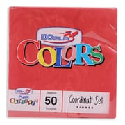 Colour Serviettes 2 Ply Red 50s