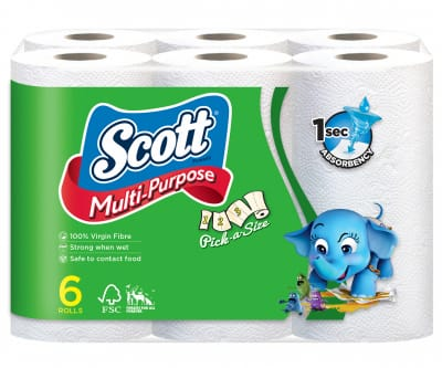 Multi Purpose Pick-A-Size Kitchen Paper Towel 6s