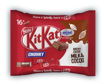 NESTLE KIT KAT Chunky Mini Milk Chocolate Snack Pack