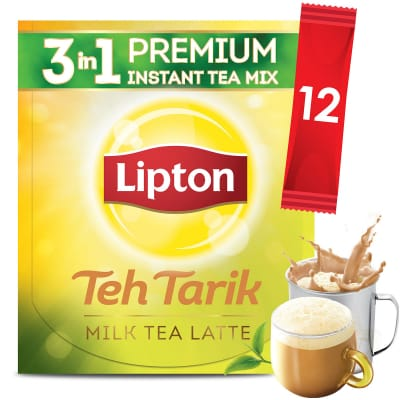 3-In-1 Premium Instant Tea Mix - Teh Tarik Milk Tea Latte 12sX21g
