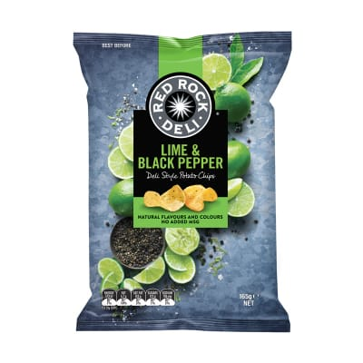 Potato Chips - Lime & Black Pepper 165g