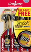 Toothbrush Slimsoft Gold Charcoal 3s