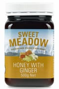 SWEET MEADOW Honey W/ Ginger 500g