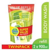 DETTOL Shower Gel Lasting Fresh Refill 2sX900ml