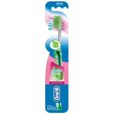 ORAL B UltraThin Green Tea Gum Care (Extra Soft) Toothbrush 1s