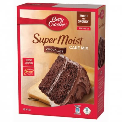 BETTY CROCKER Cake Mix - Chocolate Super Moist 430g