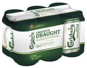 Smooth Draught Beer 6 cans