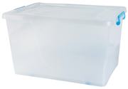 75L Storage Box with Wheels in Blue