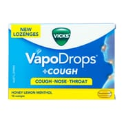 VICKS Vapodrops Honey Lemon Menthol 16s