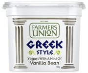FARMERS UNION Greek Style Yogurt W/ Vanilla Bean 1kg