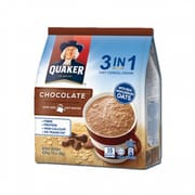 Quaker 3 -in - 1 Chocolate Oat Instant Cereal Milk