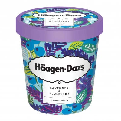 Ice Cream Minicup - Lavender & Blueberry 100ml