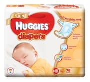 Gold Tapes Diapers New Born 78s Up to 5kg