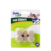 Round Felt Sliders White 19mm/16pcs